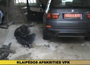 pavogtas diplomato automobilis