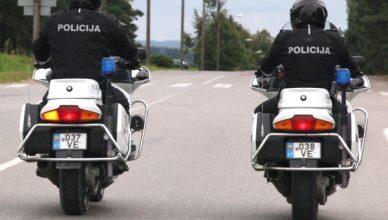 motociklai policija